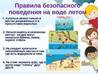 Правила безопасного поведения на воде летом!
